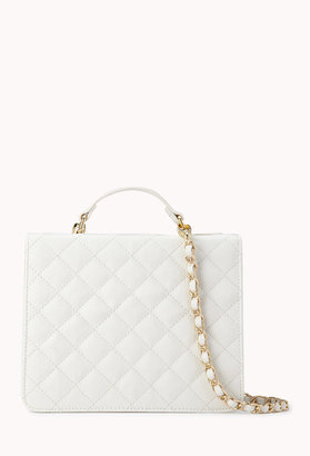 Forever 21 Iconic Quilted Faux Leather Crossbody