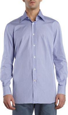 Barneys New York Small Gingham Check Dress Shirt