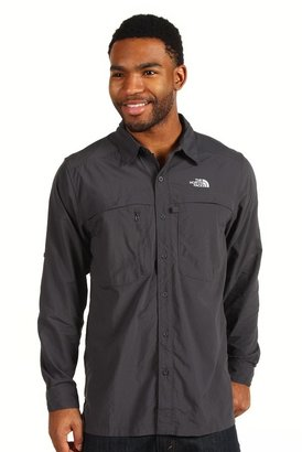 The North Face L/S Horizon Peak Woven (Asphalt Grey) - Apparel