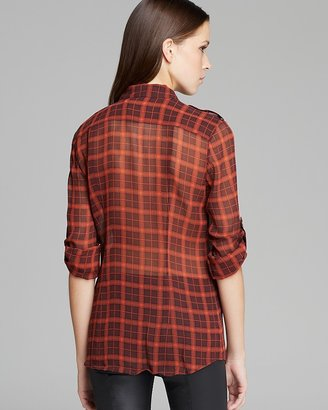 Burberry Check Silk Tunic