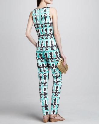 Milly Nina Printed Sleeveless Top