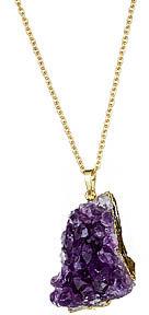 Yochi Design Yochi Raw Amethyst Stone Necklace