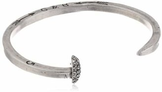 "Giles & Brother Silver-Tone Skinny Railroad Spike Cuff Bracelet, 4.5"" $95 thestylecure.com"