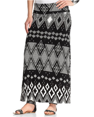 Amy Byer Skirt, Printed Maxi