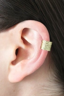 Chibi Jewels Hammered Ear Cuff in Brass
