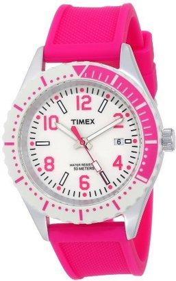 Timex Women's T2P005AB Originals Modern Sport Pink Silicone Strap Watch $83.95 thestylecure.com
