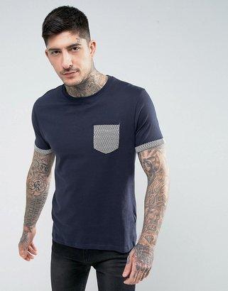 Brave Soul Geo Print Pocket T-Shirt