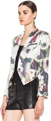 Haute Hippie Floral Jacket in Swan Multi
