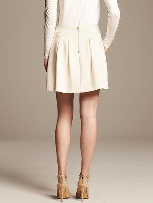 Banana Republic Ivory Box Pleat Skirt