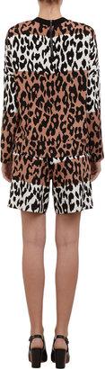 Derek Lam 10 Crosby Leopard-print Shorts