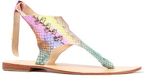 Cocobelle The Snake Tie Sandal in Rainbow