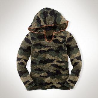 Ralph Lauren Camo Cotton Hooded Pullover