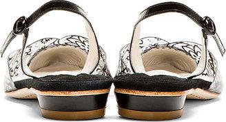 Webster Sophia Black Lace Bibi Slingback Flats
