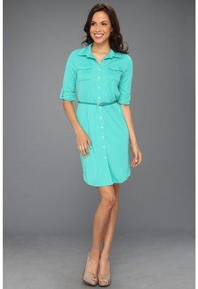 Anne Klein L/S Utility Dress (Jade) - Apparel