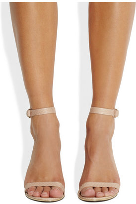 Givenchy Nadia sandals with pale gold metal trim in blush elaphe snake
