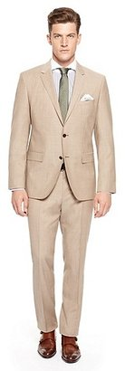 HUGO BOSS Keys/Shaft Regular Fit, Super 110 Italian Virgin Wool Suit - Medium Beige
