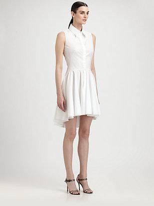 Alexander McQueen Poplin Peplum Blouse Dress