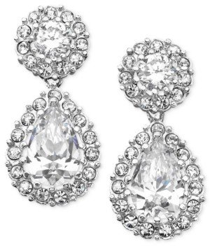Eliot Danori Cubic Zirconia Pear Drop Earrings, Created for Macy's