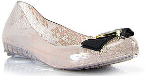 Jason Wu Melissa + Ultra Girl - Beige Lace Jelly Ballet with Bow