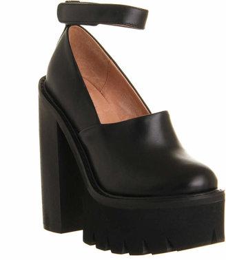 Jeffrey Campbell Skully Platform Black Leather