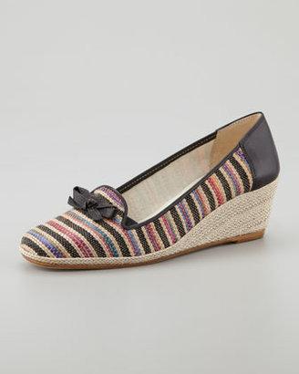 Sesto Meucci Mary Stripe Espadrille, Black/Multicolor