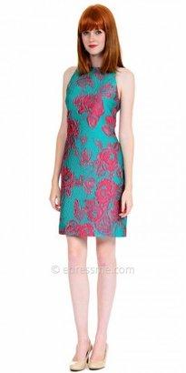 Kay Unger Jacquard Floral Shift Cocktail Dresses