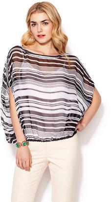 Rachel Zoe Noel Silk Crinkle Stripe Top