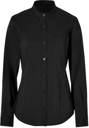 Steffen Schraut Stand-Up Collar Blouse in Black