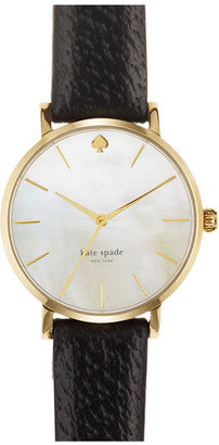 Women's Kate Spade New York 'Metro' Round Leather Strap Watch, 34Mm $195 thestylecure.com