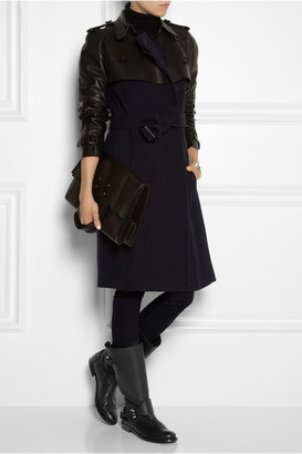 Burberry Shoes & Accessories Textured-leather biker boots