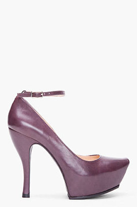 McQ by Alexander McQueen Oxblood Leather Burlesque Pumps