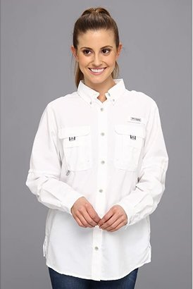 Columbia Bahama L/S Shirt (White) Women's Long Sleeve Button Up