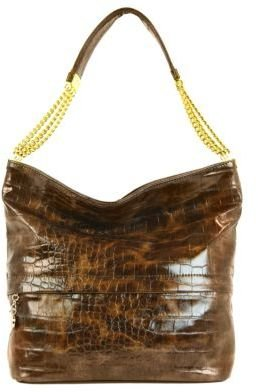 Ivanka Trump Vivian Embossed Faux Leather Bucket Hobo Bag