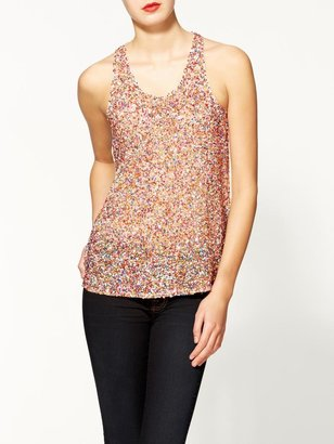 Juicy Couture Sabine Embellished Confetti Tank