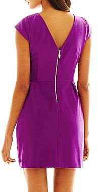 JCPenney Worthington® Cap-Sleeve Dress - Petite