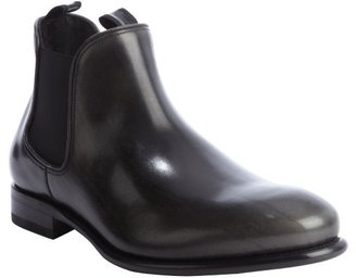Salvatore Ferragamo black leather 'Santo' ankle boots