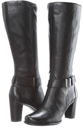 Ecco Pretoria Tall Boot (Black Old West) - Footwear