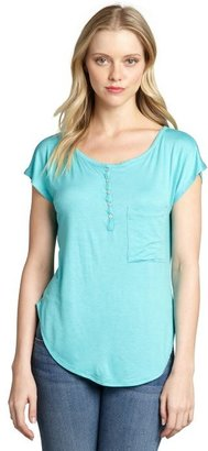 Loveappella seafom jersey knit short sleeve high-low top