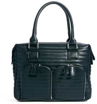 Asos Holdall With Quilting And Chunky Straps - Black