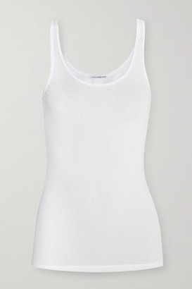 James Perse - The Daily Ribbed Stretch-cotton Tank - White $50 thestylecure.com