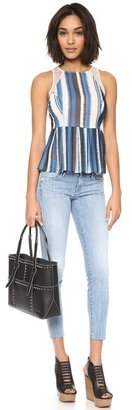 Mother The Looker Ankle Fray Skinny Jeans