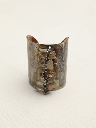 Free People Sealed Crystal Wide Cuff