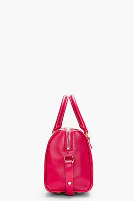 Saint Laurent Magenta pink buffed leather baby duffle