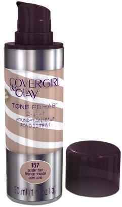 Olay CoverGirl & Tone Rehab 2 in 1 Liquid Foundation Golden Tan 1.0fl oz