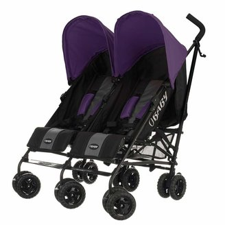 O Baby Obaby Apollo Black and Grey Twin Stroller