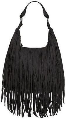 Dorothy Perkins Kardashian Kollection black fringe bag