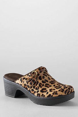 Lands' End Women's Carly Calf Hair Clog Shoes