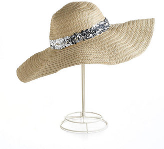 Juicy Couture Wide-Brimmed Hat With Sequin Trim