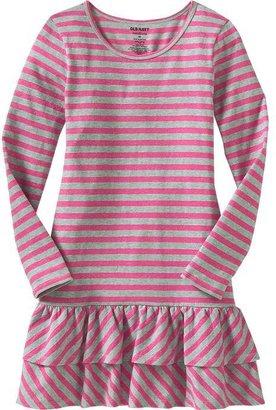 Old Navy Girls Striped Ruffle-Trim Dresses