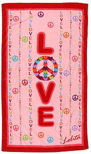 Avanti Lolita Peace, With Love Beach Towel